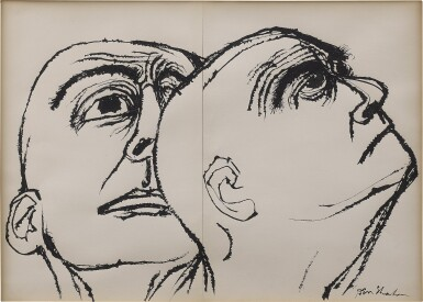 View 1. Thumbnail of Lot 154. Head Study: A Diptych.