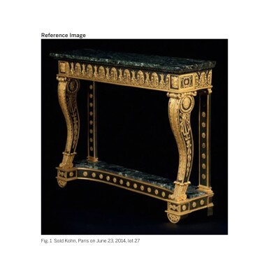 View 2. Thumbnail of Lot 7. A PAIR OF EMPIRE GILT AND PATINATED BRONZE JARDINIERES NOW FITTED AS CENTRE TABLES, EARLY 19TH CENTURY.