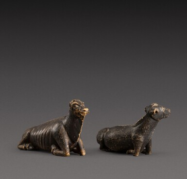 View 1. Thumbnail of Lot 157. Indo-European, possibly 17th century | Pair of Animals.