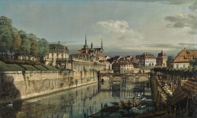 BERNARDO BELLOTTO  |  DRESDEN, A VIEW OF THE MOAT OF THE ZWINGER