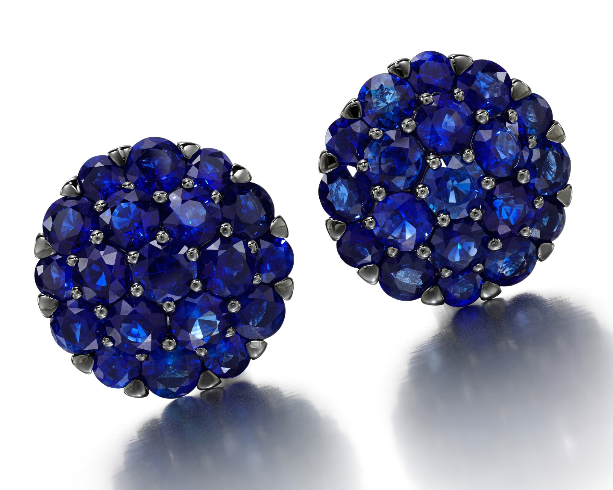 View full screen - View 1 of Lot 89. GRAFF | PAIR OF SAPPHIRE AND DIAMOND EARRINGS.