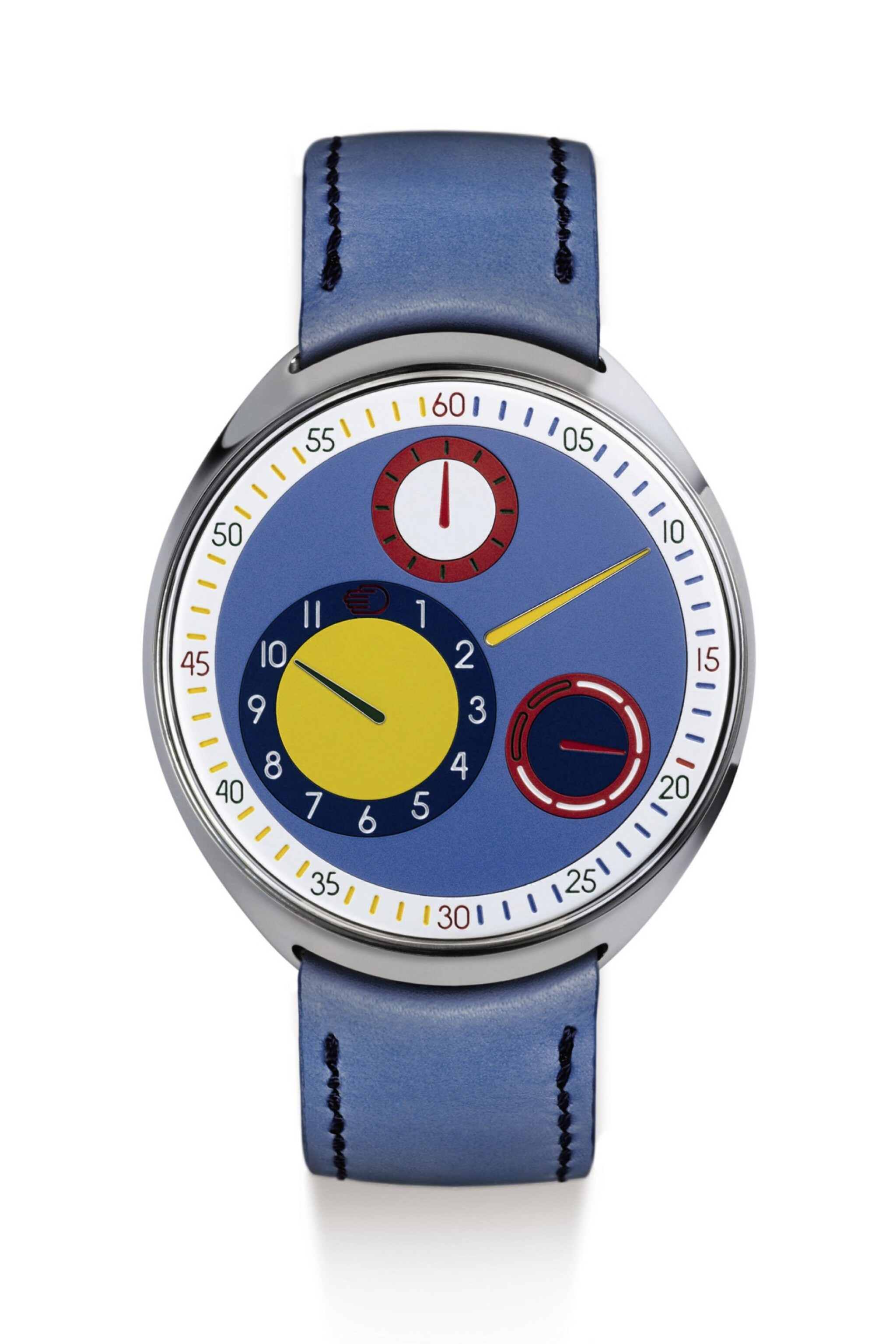 "View full screen - View 1 of Lot 2267.  RESSENCE | TYPE 1 SLIM ""AYRTON & FINLAY""   A UNIQUE TITANIUM AUTOMATIC WRISTWATCH WITH MULTI-COLOR ROTATING DIAL AND DAY OF THE WEEK INDICATION, DESIGNED BY RESSENCE AND RAYMOND RAMSDEN, TO BE SOLD TO BENEFIT THE COVID-19 RESEARCH PROGRAMME OF THE KU LEUVEN AND UZ LEUVEN UNIVERSITIES, MADE IN 2020 "" 