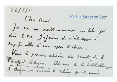 View 3. Thumbnail of Lot 55. Une princesse parisienne. 1840. EO., Rel. de l'ép. De la bibliothèque de Balzac, relié pour lui..
