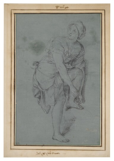 View 3. Thumbnail of Lot 136. A Young Woman Tying Her Sandals.