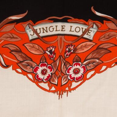 "View 2. Thumbnail of Lot 68. Hermès ""Jungle Love"" Cashmere and Silk Shawl 140cm."