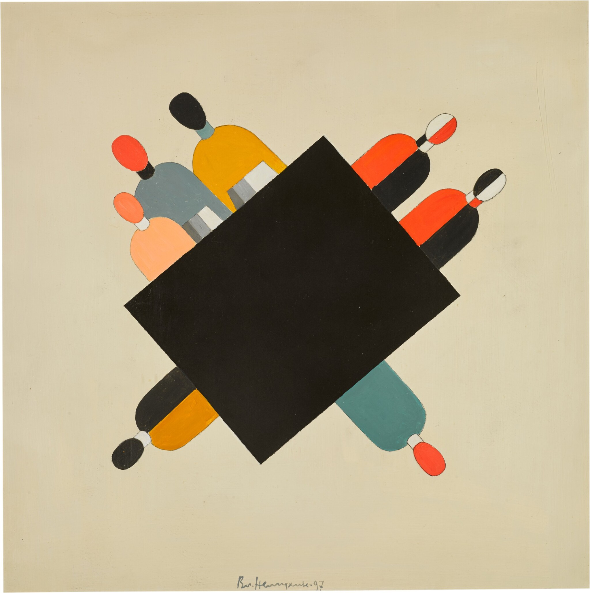 View full screen - View 1 of Lot 3. VLADIMIR NEMUKHIN | HOMAGE TO MALEVICH (LAND AND LIBERTY).