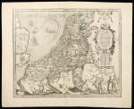 Van Den Keere, Pieter   The famous depiction of the Provinces of the Low Countries in the shape of a lion