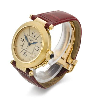 View 2. Thumbnail of Lot 18. CARTIER | PASHA, REFERENCE 1988 820901, YELLOW GOLD WRISTWATCH WITH DATE, CIRCA 1989.