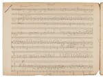 S. Lyapunov, Autograph manuscript of the Violin Concerto in D minor op. 61, arranged for piano and violin, c.1915