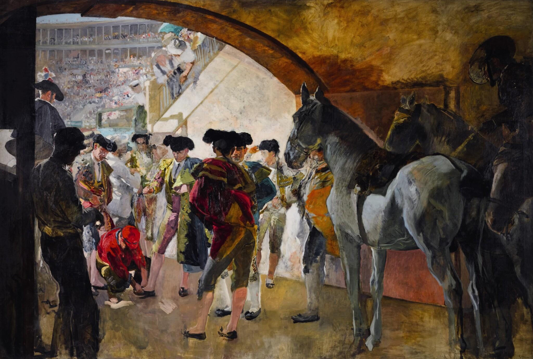 View 1 of Lot 33. Antes de la corrida (Before the Bullfight).