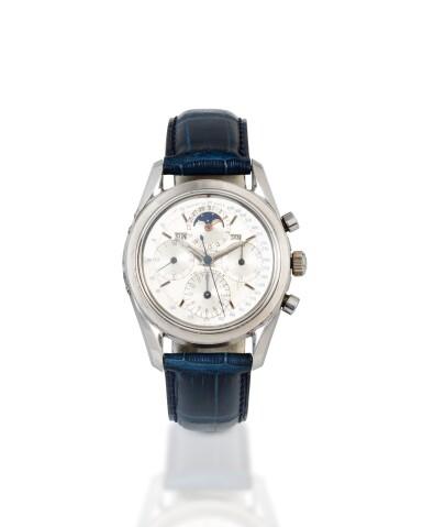 View 1. Thumbnail of Lot 22. Tri-Compax, Ref. 222100/2    Chronographe bracelet avec calendrier triple     Stainless steel chronograph wristwatch with triple calendar     Vers 1955      Circa 1955.