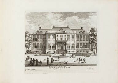 View 4. Thumbnail of Lot 47. Tooneel der Voornaamste... Amsterdam, vers 1695. Relié avec : VALK. Veues et perspectives deSoesdyck..