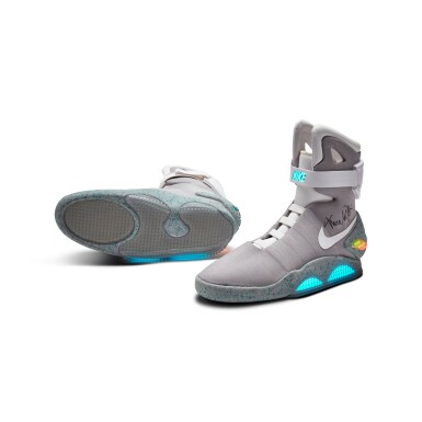 View 4. Thumbnail of Lot 1. Michael J. Fox Dual Signed Nike MAG 'Back to the Future' | 2011.