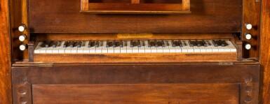 View 6. Thumbnail of Lot 167. A George III mahogany chamber organ by Hugh Russell, 1780.