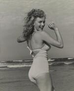 Tobey Beach, unique vintage gelatin photograph of Marilyn Monroe, 1949