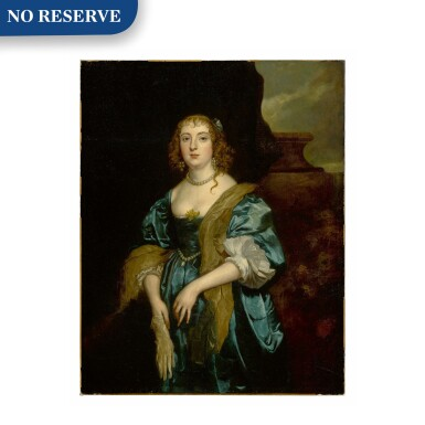 View 1. Thumbnail of Lot 31. Portrait of Anne Russell (née Carr), Countess of Bedford (1615 - 1684), three-quarter length.