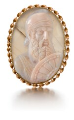 ITALIAN, LATE 18TH/ EARLY 19TH CENTURY | CAMEO BUST OF A BEARDED WARRIOR