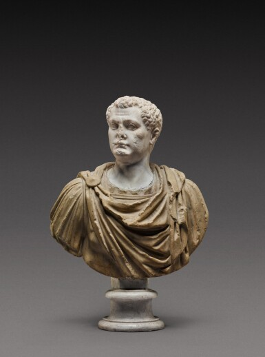 View 1. Thumbnail of Lot 108. A Roman Marble Portrait Bust of a Man, the head circa A.D. 80, the shoulders 2nd Century A.D..