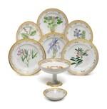 A Set of Six Royal Copenhagen 'Flora Danica' Dinner Plates, Modern