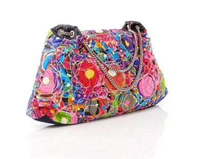 View 1. Thumbnail of Lot 35. 'Kaleidoscope' printed silk shoulder bag.