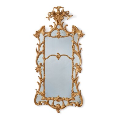 A GEORGE III GILTWOOD MIRROR, THIRD QUARTER 18TH CENTURY