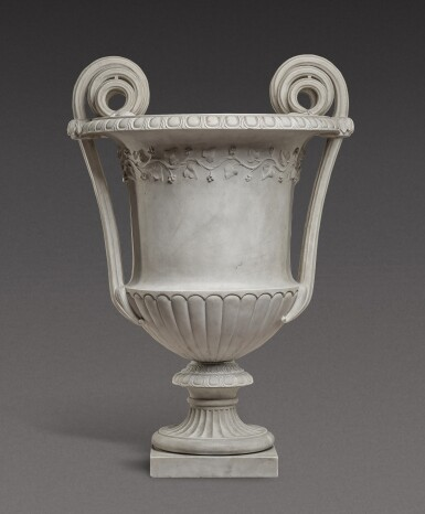 View 3. Thumbnail of Lot 168. An Italian neoclassical carved marble vase, Rome, late 18th century/early 19th century.