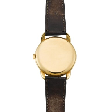 View 4. Thumbnail of Lot 408. REF 2536 YELLOW GOLD WRISTWATCH WITH ENLARGED ROUNDED BEZEL AND UNUSUAL CURVED OVERLAPPING LUGS MADE IN 1957.