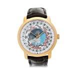 REFERENCE 86060 TRADITIONNELLE WORLD TIME A PINK GOLD AUTOMATIC WORLD TIME WRISTWATCH, MADE IN 2011
