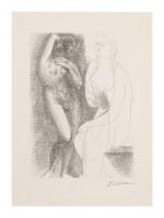 PABLO PICASSO | FEMME NUE DEVANT UNE STATUE (B. 139; BA. 205)