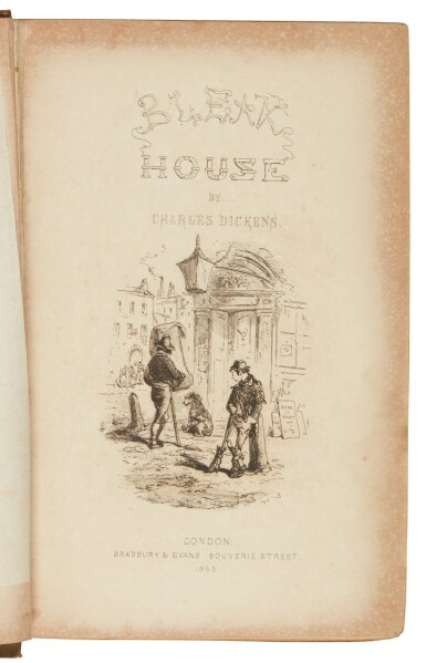 Dickens, Bleak House, 1853, first edition in book form, variant publisher's cloth