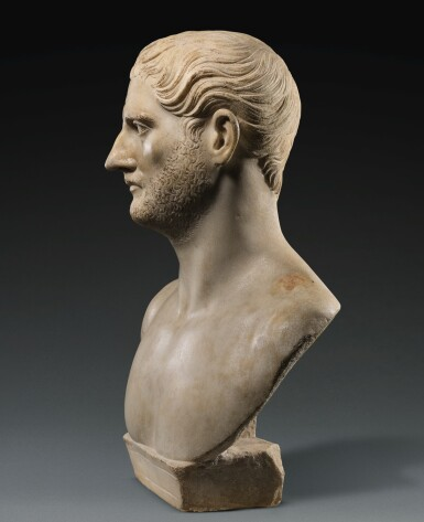 View 4. Thumbnail of Lot 42. A ROMAN MARBLE PORTRAIT BUST OF A MAN, TRAJANIC, EARLY 2ND CENTURY A.D..