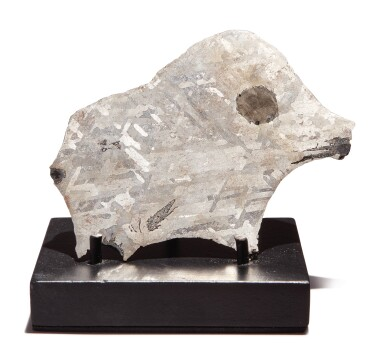RARE ZOOMORPHIC METEORITE – AN ODESSA METEORITE IN THE NATURAL FORM OF A BOAR
