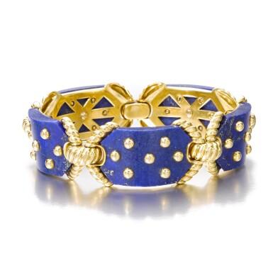 View 2. Thumbnail of Lot 623. Cartier | Gold and lapis lazuli bracelet, 1970s | 卡地亞 | 黃金鑲青金石手鏈,1970年代.