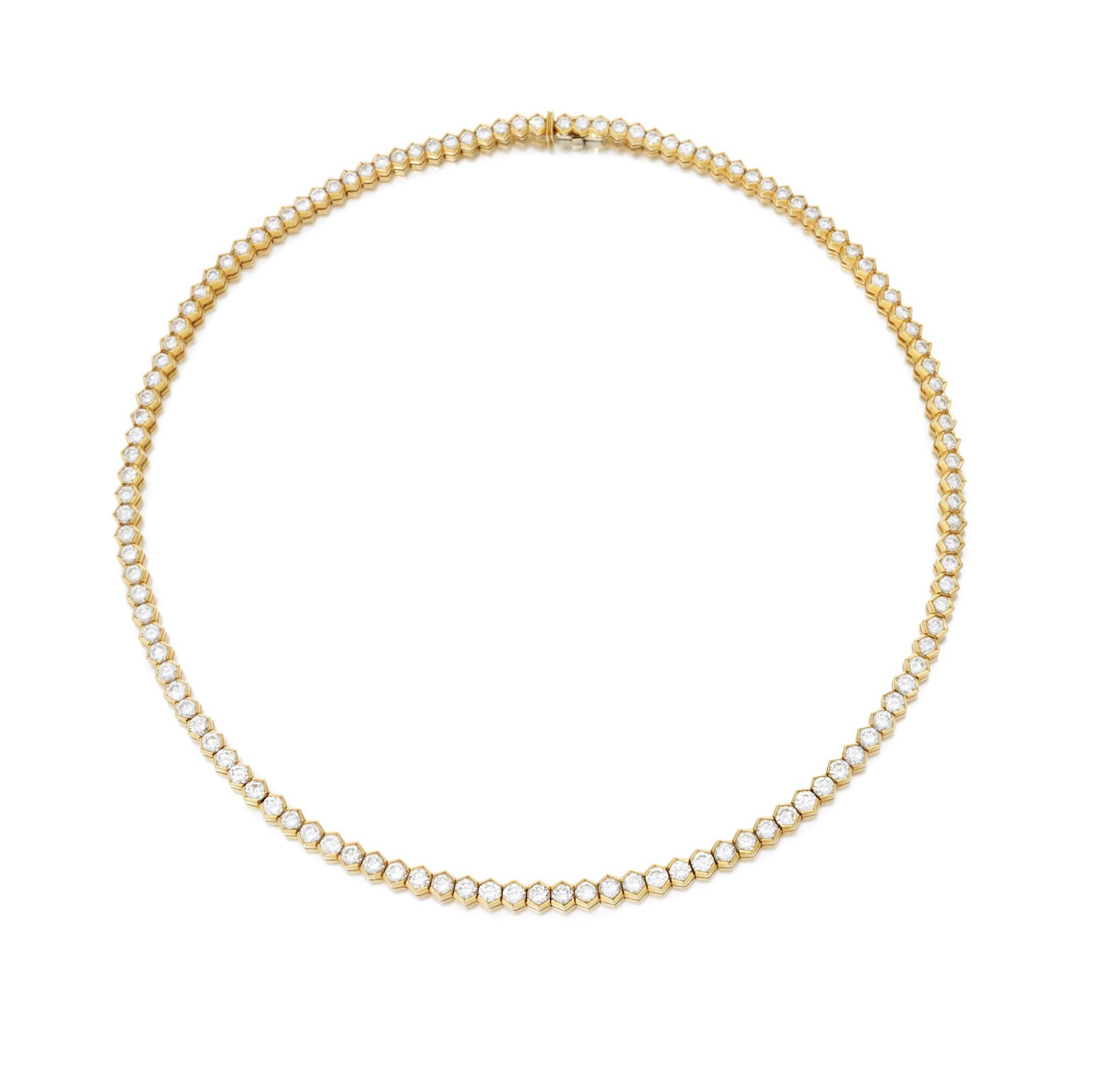 View full screen - View 1 of Lot 98. Diamond necklace (Collana in diamanti).