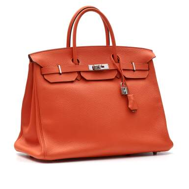 View 2. Thumbnail of Lot 313. Feu Birkin 40cm in Taurillion Clemence Leather with Palladium Hardware, 2014.
