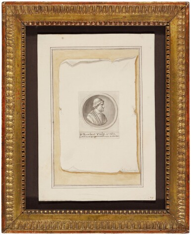 View 2. Thumbnail of Lot 54. Trompe l'oeil with silver medal celebrating Dr. Nicolaes Tulp's fourth term as mayor of Amsterdam.
