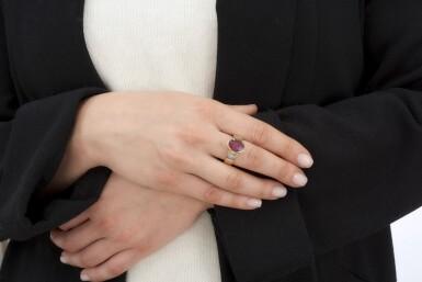 RUBY AND DIAMOND RING (ANELLO CON RUBINO E DIAMANTI)