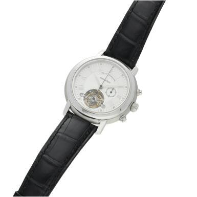 View 5. Thumbnail of Lot 368. Reference 25909BC Jules Audemars  A white gold tourbillon chronograph wristwatch, Circa 2000 .