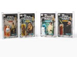 4 STAR WARS FIGURES: LUKE SKYWALKER, CHEWBACCA, PRINCESS LEIA AND OBI-WAN KENOBI (WHITE HAIR), 1978
