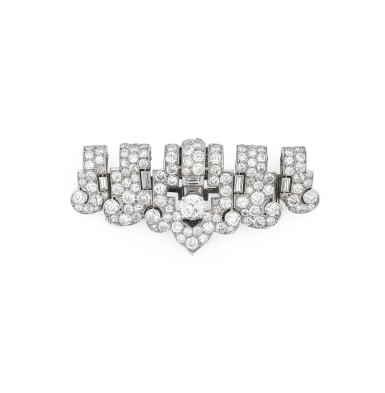 View full screen - View 1 of Lot 26. CARTIER | CLIP DIAMANTS | DIAMOND CLIP.