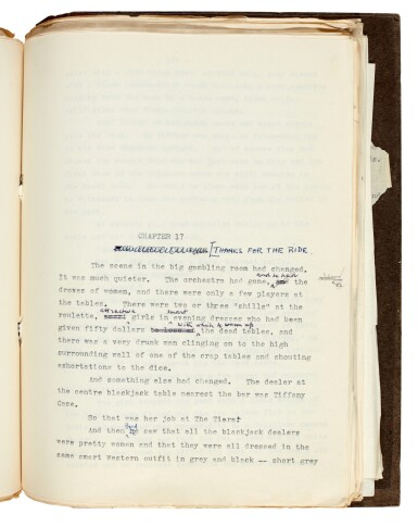 View 5. Thumbnail of Lot 19. FLEMING   Diamonds are Forever, [1955-56], the final revised typescript.