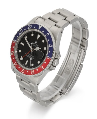 View 2. Thumbnail of Lot 1. ROLEX | GMT-MASTER, REFERENCE 16700, STAINLESS STEEL DUAL-TIME WRISTWATCH WITH DATE AND BRACELET, CIRCA 1991.