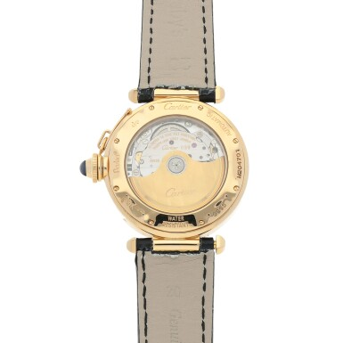 View 4. Thumbnail of Lot 471. Pasha, Ref. 0995-1 Yellow gold wristwatch with date and moon phases Circa 1990 | 卡地亞 0995-1型號「Pasha」黃金腕錶備日期及月相顯示,年份約1990.