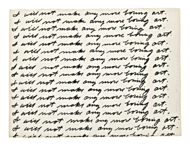 View 1. Thumbnail of Lot 3. JOHN BALDESSARI |  I WILL NOT MAKE ANY MORE BORING ART.
