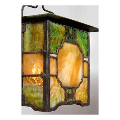 View 2. Thumbnail of Lot 46. Lantern from the Adelaide Tichenor House, Long Beach, California.