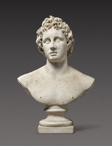 View 1. Thumbnail of Lot 116. Italian, probably 17th century | Bust of Helios Alexander.