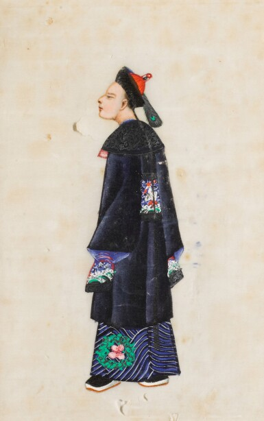 View 28. Thumbnail of Lot 163. A set of fourteen Chinese paintings on silk, Canton, 19th century.