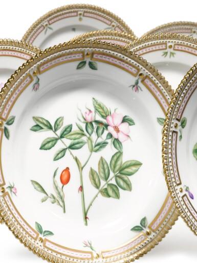 View 3. Thumbnail of Lot 17. A Set of Twelve Royal Copenhagen 'Flora Danica' Salad Plates, Modern.