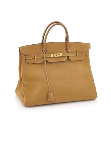 Saffron leather and gold plated hardware, Birkin 40, Hermès, 1991