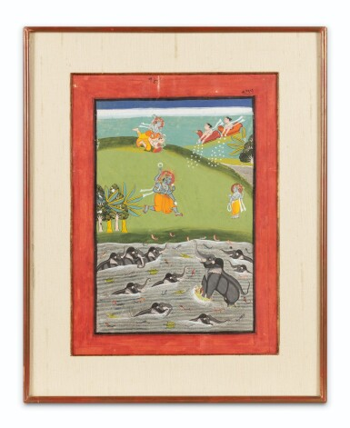 View 2. Thumbnail of Lot 37. RAJASTHAN, LATE 18TH CENTURY AND 19TH CENTURY | SIX INDIAN MINIATURES.
